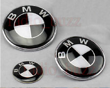 KIT - 3 Badge BMW - BLACK Version Noir Embleme- Capot+Coffre+Volant LOGO Insigne