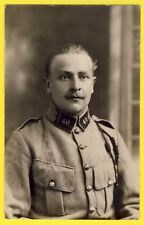 cpa Carte Photo MILITAIRE SOLDAT du 40e Régiment Portrait Uniforme Fourragère