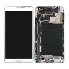 White LCD screen digitizer + Frame Assembly Replacement For Galaxy Note 3 N900V