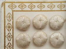 6 orig. uralte Jugendstil Zierknöpfe mit Flach Ösen unbenutzt 10mm  um 1900