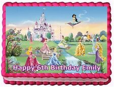 DISNEY PRINCESS EDIBLE CAKE TOPPER BIRTHDAY DECORATIONS