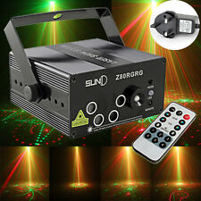 300mw 5Lens 80 Patterns RG Laser LED Stage Lighting DJ Club Party Bar Show Light