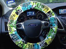 vera bradley - Lime's Up - steering wheel cover - handmade