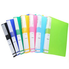 New A4 60 Pockets Clear File for Display Presentation Document Folder Book File