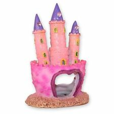 Château de Princesse Rose Poisson Aquarium Grotte Ornament Fish Tank Décoration