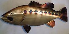 HandMade Torch Colored Metal Bass,fish,Fishing,Home decor,lodge,Cabin,wall,art,