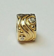 Authentic!!  Pandora 14k Gold Babbling Brook Diamond Clip. Ending Soon!