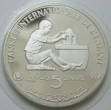 TUNISIA 5 Dinars 1982 Silver Proof YEAR OF THE CHILD