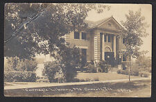Mt Mount Carroll-IL-Carnegie Library-C.R. Childs-Real Photo-Antique Postcard