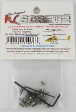 25+ Piece Stainless Steel Screw Kit for E-flite MCX Helicopter - RC Screwz