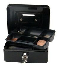 "4 "" Cash Money box, Piggy Bank, with key lock and coin slot. Black"