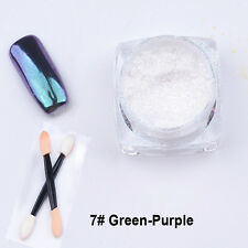 2g/box Shinning Mirror Powder Gold/Sliver Nail Art Chrome Pigment Glitters DIY #