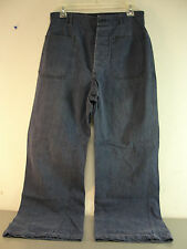 GENUINE WW2 US NAVY USN BLUE DENIM PANTS DUNGAREE TROUSERS WWII 29x28 VINTAGE