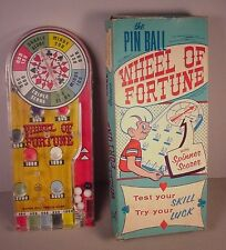 1950's Marx Pinball Game vintage Toy in orig. box Wheel of Fortune Tin litho USA