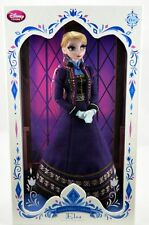"Authentic Disney Store Limited Edition LE Elsa Frozen 17"" Doll Regal Purple"