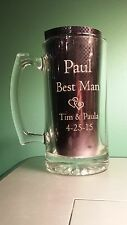 Groomsman Large Beer Mug 27 oz. Glass Personalized Engraved Wedding Gift Groom