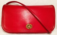 Vintage 1970s Coach Dinky Bag, 9375, Red, Made in New York City