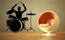 Bass Drum Sound Music Band Positive Mural  Wall Art Decor Vinyl Sticker z665