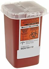 Dynarex Sharps Container Biohazard Needle Disposal 1 Qt Size Tattoo