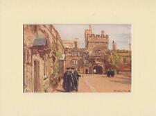 "JESUS COLLEGE,OXFORD VINTAGE 1922,8"" x 6"" MOUNTED PRINT by Fulleylove"