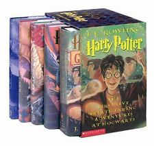 Harry Potter Hardcover Box Set with Leather Bookmark (Books 1-5), J. K. Rowling,