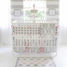 My Baby Sam 4 Piece Nursery Crib Bedding Set Olivia Rose Includes Bumper  NEW