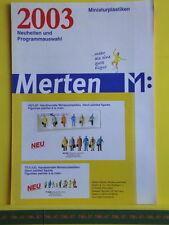Catalogue MERTEN 2003 F - Figurines en HO N TT & Z - Neuf 8 p