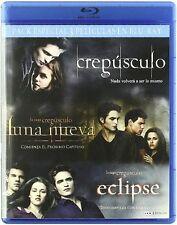PACK ESPECIAL 3 CREPUSCULO + LUNA NUEVA + ECLIPSE BLU RAY CASTELLANO ESPAÑOL