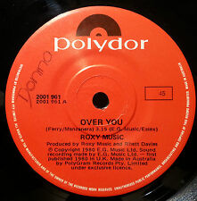 ROXY MUSIC 45RPM OVER YOU FREE POST IN AUSTRALIA