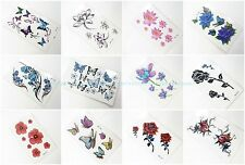 12 sheets temporary tattoo Fake Tattoos Sticker that look real  Body Decals