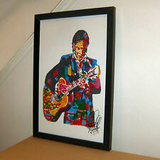 Johnny Cash, Singer Songwriter, Guitar, Country, Gopsel, 11x17 PRINT w/COA S