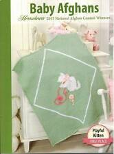 Herrschners 2015 Baby Afghans Knit Crochet 4 PATTERNS Blanket Wrap Throw Gift