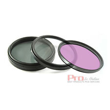 52mm FLD+UV+CPL Circular Polarizing Filter FOR nikon d3100 d5100 d3200 kit lens