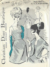 1960s Vintage Sewing Pattern B36 DRESS & JACKET (R996R) By Christan Dior