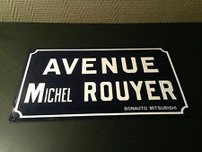 veritable ancienne plaque emaillee rue avenue michel rouyer mitsubishi