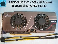 MSI Frozr Radeon HD 7950 3GB Apple MAC PRO Upgrade 1,1-5,1 + Power Cables,