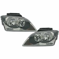 New Pair Set Halogen Headlight Headlamp Assembly DOT 04-06 Chrysler Pacifica