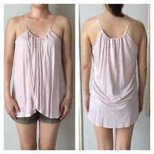 H&M Pale Pink Sleeveless Draped Top Blouse - Brand New Authentic EUR S