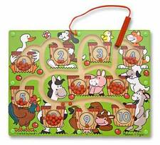 Melissa & Doug Magnetic Number Maze Wooden Puzzle Game