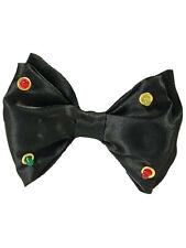 Flashing Black Dickie Bow Tie Clown Showbiz Joke Prop Fancy Dress Accessory New