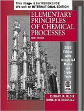 Elementary Principles of Chemical Processes: Integrated (Int' Ed Paperback)3 Ed