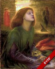 BEATA BLESSED BEATRIX PRAYING PAINTING DANTE INFERNO ART REAL CANVAS PRINT
