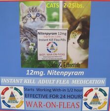 Flea Pills Instant Kill 12mg. Cats  2lbs.-25lbs (12 Pack) + 1 FREE  *SALE $9.98