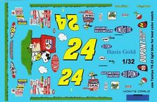 #24 Jeff Gordon Peanuts 2004 Chevy 1/32nd Scale Slot Car Waterslide Decals