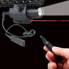 Tactical Red Laser Sight CREE Q5 LED FlashLight Combo for Rifle Picatinny Rail