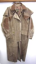 Australian Duster Jacket Coat Down Under gray 100% cotton oilskin waxed sz S
