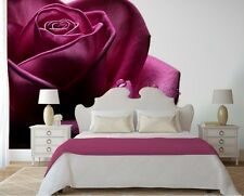 Large PHOTO WALLPAPER bedroom & living room WALL MURAL nature Purple rose Flower