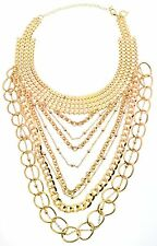 Thalia Sodi Gold-Tone Multichain Layer Choker Necklace