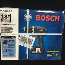 "Bosch 18V Lithium-Ion 1/2"" Drill/Driver Model DDS182-02"