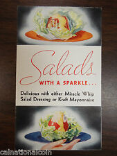 Miracle Whip Salad Dressing and  Kraft Mayonnaise Salad Dressing Advertisement